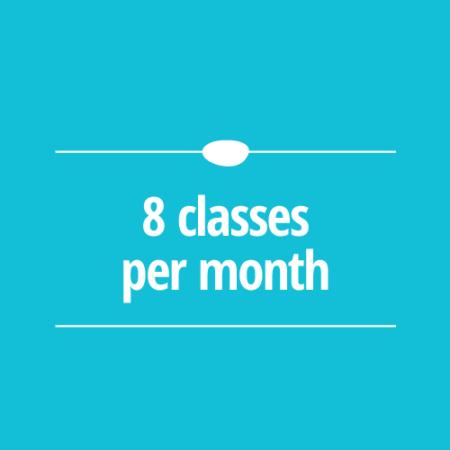 8 Classes per Month